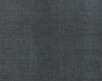 "End of Bolt 10"" of Moda Cross Weave Woven in Black"