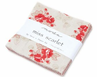 Miss Scarlet Charm Pack 14810PP by Minick & Simpson for Moda