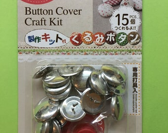 22mm Fabric Covered Button Starter Kit