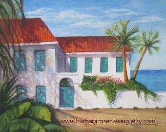 Original Painting, Original Art, Original Watercolor Painting, Beach House Art, Tropical Decor, Beach Wall Art, Tropical Watercolor Decor