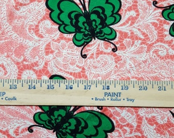 Green Butterfly Rayon Spandex