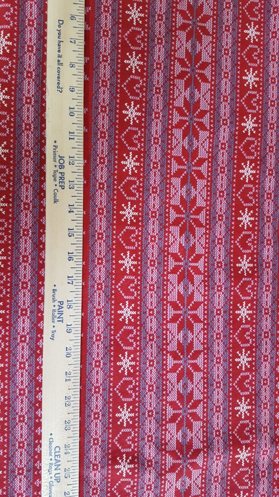 Fair Isle Pattern on Cotton jersey Knit FAbric from ...