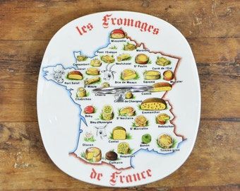 Cheeseboard FRANCE French map cheese serving plate Limoges porcelain