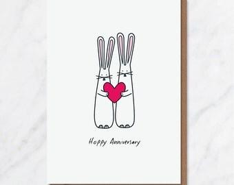 Hoppy Anniversary A6 card