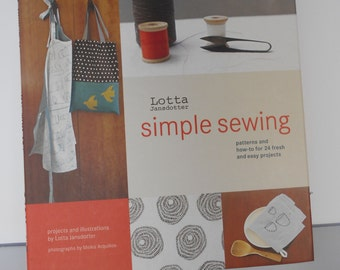 Sewing Book Simple Sewing by Lotta Jansdotter - Patterns and how-to for 24 fresh and easy projects - Ready to Ship