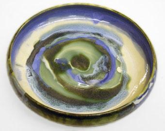 Ivory swirl plate