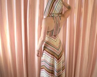 70s Desert Queen Hooded Maxi Dress