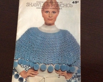 Shawls and Ponchos . Pattern book .