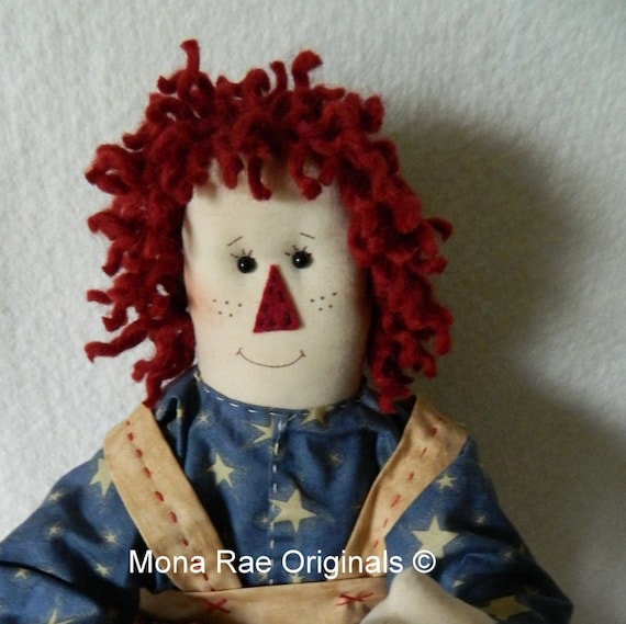 Raggedy Blue Doll - Original Design