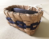 Handmade Business Card Basket - Navy Blue - Can Be Customized
