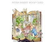 printable Peter Rabbit  popup Card DIY craft kit easy instructions to follow great for baby shower