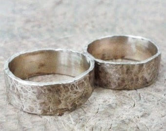 Fair wedding rings in white gold 18k