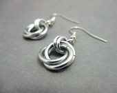 Silver Mobius Chainmaille Earrings