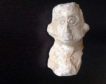 Antique Stone Sculpture Head of a Man