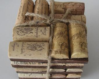 Wine Cork Coaster Set