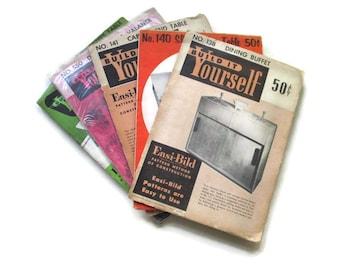 Vintage Furniture Making Carpentry Kits // Patterns Kitsch Retro Mid-Century Furniture Kits // Woodworking