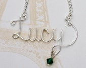 Personalized name necklace - custom name necklace - wire wrapped necklace