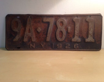 1920s New York license plate