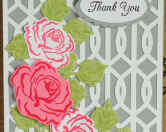 Three Roses Thank You Card