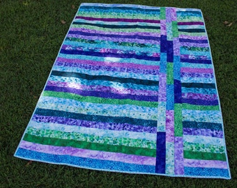 Quilted Springtime Throw