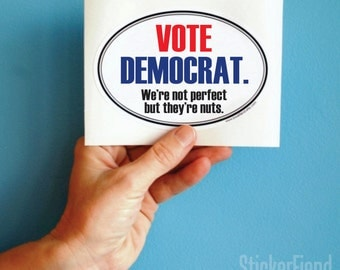 vote democrat vinyl bumper sticker sticker
