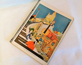 Vintage 1928 The Lovely Fairland Of Music & Music Play For Every Day Children's Book