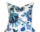 Cambourne Blue Designer Pillow Cover - (Single-Sided) 17x17