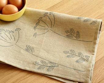 Linen tea towel - Dill