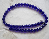 Shop CLOSING SALE, Faceted Deep Cobalt Blue Necklace for Interchangeble Multi Strand Collection,  Czech glass, mix or match, 35% off coupon