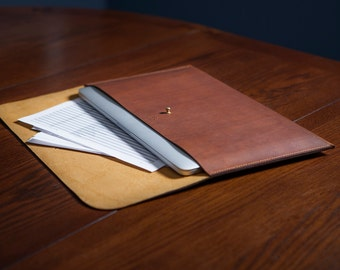 Full Grain Leather Macbook Sleeve