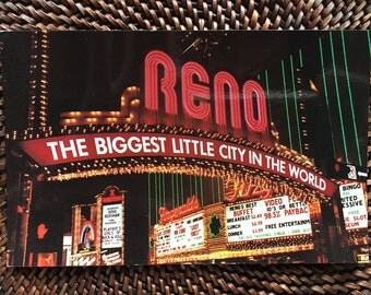 World Famous Reno Arch with Neons on The Fitzgerald Casino
