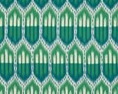 F. Schumacher Lumbar, 16 x 16, 18 x 18, 20 x 20, 22 x 22, Euro Designer Pillow Cover - Bukhara Large Ikat Emerald and Peacock
