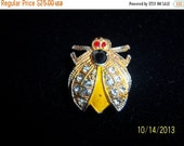 SALE Vintage Coro Rare Fly Scent Scatter Pin