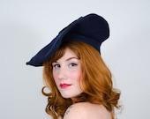 25% OFF SALE / 1940s vintage hat / wool beret / Jane Grey