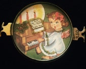 Vintage Handcrafted Christmas Angel playing Piano Bracelet piece