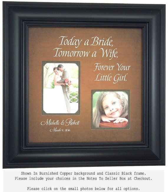 Wedding Frame Father of the Bride Mother of the Bride Gift Personalized Frame Wedding Sign, Today A Bride Frame 16 X 16