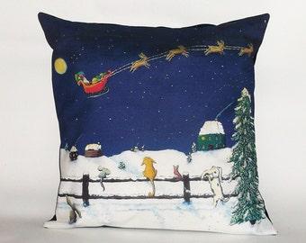 Children's Fairy Tale Pillow Cover - It's Santa!