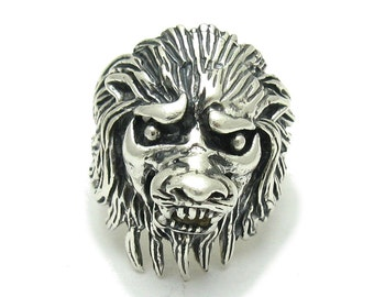 R001561 STERLING SILVER Ring Solid 925 Lion