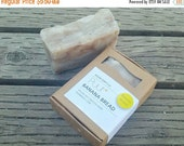 ON SALE Banana Bread - VEGAN Handmade Soap Bar - Foodie Soap - Hot Process Exfoliating Soap with Cloves - Rustic Bath Bar - Olive oil Soap 5