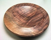 Intense Walnut Burl Spindle Bowl 5 across & 1.25 inches tall...