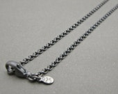 """Sterling Silver Chain - 14"""",15"""",16"""",17"""",18"""",19"""",20"""",21"""",22"""",24"""",26"""",28"""",30"""",32"""",34"""",36"""",38"""", .925, Men,Women, Sterling Silver Chain Necklace"""