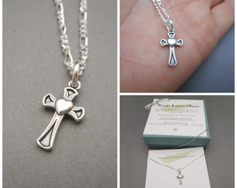 Womens Cross Necklace - Cross Jewelry - Womens Necklace - Cross Sterling silver - Cross Necklace - Mothers Day Gift - Christmas