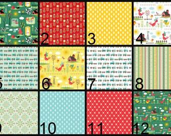Crib Blanket, Crib Bedding, Crib Quilt, Baby Bedding, Stripe Baby Quilt, Stripe Baby Blanket,farm, tractor, barn, red, green, yellow, blue