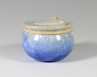 Turquoise Crystalline Glazed Beeswax Candle: 3oz