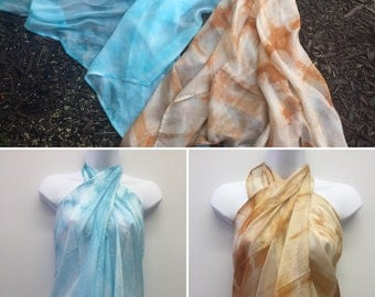 Hand Tie Dyed Pareo Swim Cover- Up/Scarf