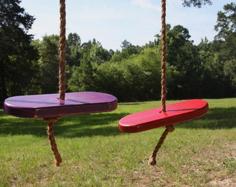 Set of Two Single Rope Tree Swings