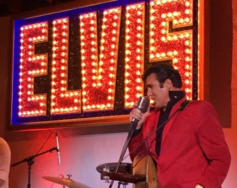 Elvis Sign with lights