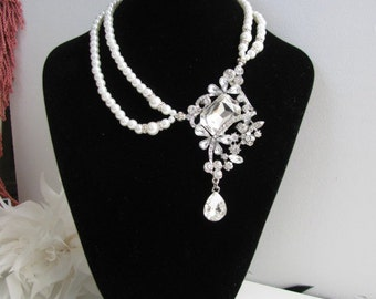 Bridal Necklace Wedding Necklace Earrings Swarovski Pearl Necklace Earrings Wedding Jewelry Bridal Jewelry Pageant Jewelry