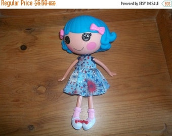 Lalaloopsy Doll Dress handmade red white and blue with bursts