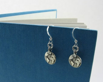 Globe Earrings for World Traveler, Geography or History Teacher, Map Collector, Earth Dweller, Sailor Gift